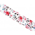 Folia Przeźroczysta z Kwiatkami 100 cm x 4 cm