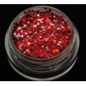 Brokat Czerwony Hologram 1mm. Pojemność 5 ml.