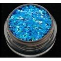 Brokat Niebieski Hologram 1 mm. Pojemność 5 ml.