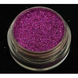 Brokat Różowy Hologram 0.2 mm. Pojemność Słoiczka 5 ml.
