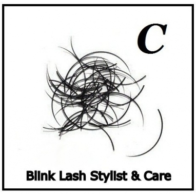 Rzęsy Jedwabne   Profil C Grubość 0,20. Długość 13 mm. Blink Lash Stylist & Care.