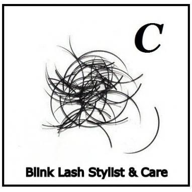 Rzęsy Jedwabne   Profil C Grubość 0,25. Długość 11 mm. Blink Lash Stylist & Care.