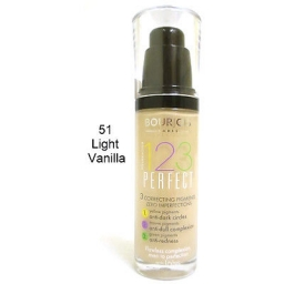 Bourjois 123 Perfect Foundation Podkład ujednolicający 51 Light Vanilla 30ml