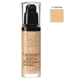 BOURJOIS 123 PERFECT FOUNDATION PODKŁAD UJEDNOLICAJĄCY 53 Beige Clair 30ML