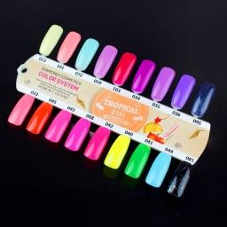 Wzornik ręcznie malowany Semilac Tropical Drinks - 18 kolorów