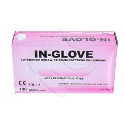 Rękawiczki lateksowe pudrowane naturalne rozmiar L. 10 szt. In-Glove
