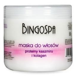 Maska do włosów z proteinami kaszmiru i kolagenem BingoSpa 500 ml