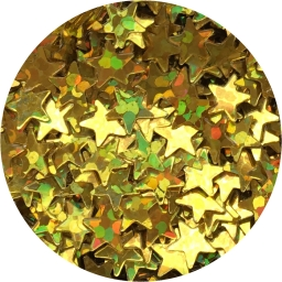 Gwiazdki złoty hologram 3 mm