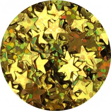Gwiazdki złoty hologram 4 mm