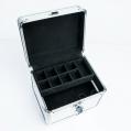 Kuferek kosmetyczny mały złoty diament faktura 3D