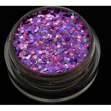 Brokat Fioletowy Hologram 1 mm. Pojemność 5 ml.