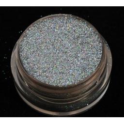 Brokat Srebrny Hologram 0.2 mm Pojemność 5 ml