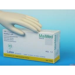 Rękawiczki Lateksowe Soft  Bezpudrowe. Rozmiar XS. 10 sztuk
