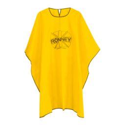 RONNEY Profesjonalna peleryna fryzjerska żółta
