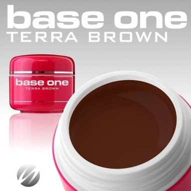 Żel UV Base One Color Terra Brown 5g.