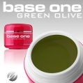 Żel UV Base One Color Green Olive 5g.