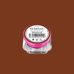 600 Semilac Sculpture Gel 4D Brown 5 g