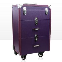 Kufer kosmetyczny – DUŻY Z SZUFLADAMI – Z KRATKĄ!
