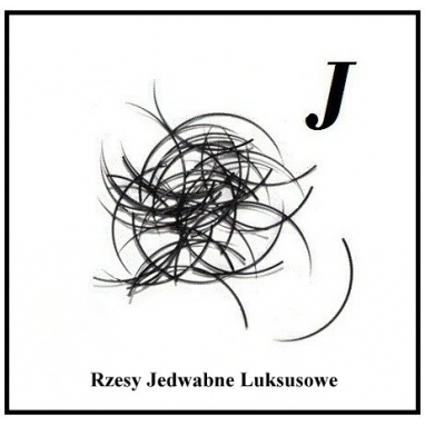Rzęsy Jedwabne. Profil J. Grubość 0,25. Długość 12mm.