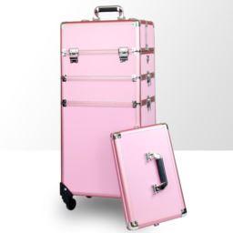 Kufer kosmetyczny 2w1-duży trzyczęściowy z kółkami