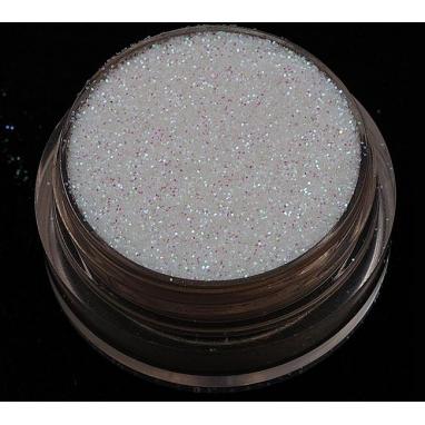 Brokat Biały Irys Opalizujący 0.2 mm. Pojemność Słoiczka 5 ml.