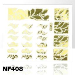 NF408. NAKLEJKI-SZABLONY DO MALOWANIA WZORÓW ZŁOTE