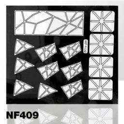 NF409. NAKLEJKI-SZABLONY DO MALOWANIA WZORÓW BIAŁE